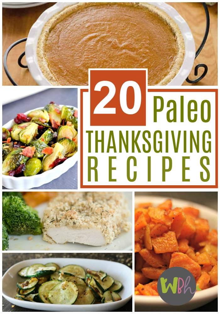 Lots of Thanksgiving type foods are easily adaptable to the Paleo diet. Here are 20 amazing Paleo Thanksgiving recipes. #thanksgiving #thanksgivingrecipes #recipe #paleo #paleorecipes #paleodiet