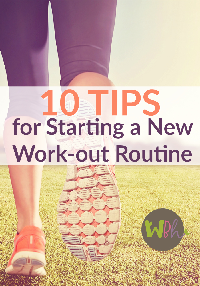 If you're motivated to add a healthy dose of exercise to your day, here are 10 tips for starting a new workout routine. #exercise #workout #healthylifestyle