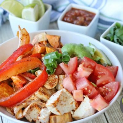 Whole30 Chicken Fajita Bowls (Whole30, Paleo, Keto)