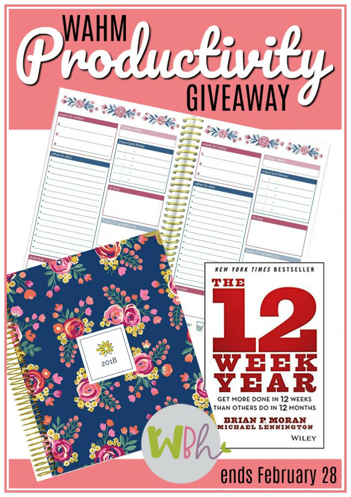 I am so excited to give away a copy of the very planner and to-do list book I use every day to make my own work at home mom life more productive. One winner will win both the Bloom Daily Planner and the Bloom To-Do List Book, along with The 12-Week Year, a book that has drastically changed my level of productivity so far in 2018. #wahm #12weekyear #bloomplanner #giveaway
