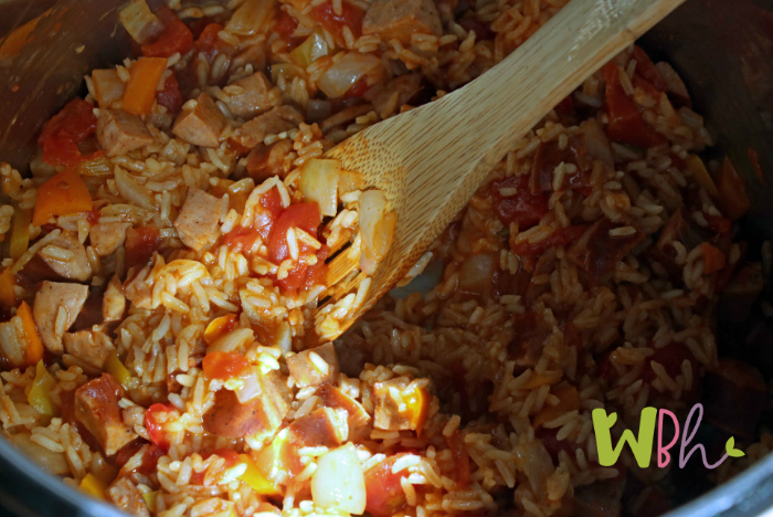 Enjoy this gluten-free Instant Pot spicy sausage and rice. This little dish is so quick to whip up, doubles well, and is quite tasty. Anytime I can get dinner on the table in under 30 minutes is a win for me! I hope you enjoy it, too. #glutenfree #instantpot #instapot #glutenfreefrecipe #instantpotrecipe