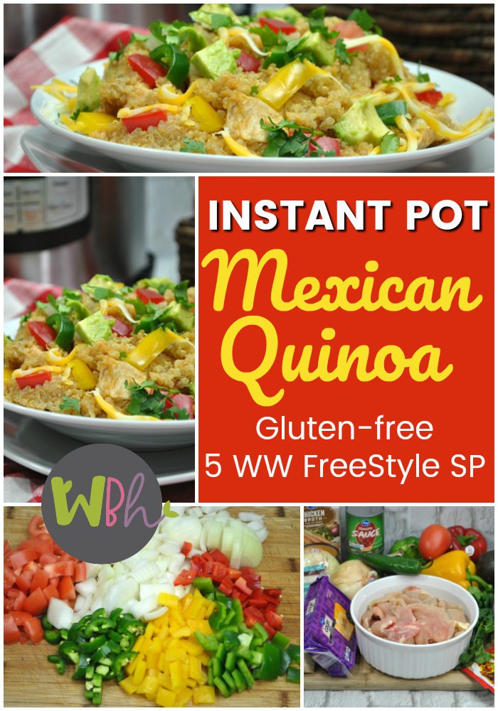 How about a slightly spicy Mexican recipe for your Instant Pot that is not only gluten-free but also fits well on the Weight Watchers Freestyle plan? Are you one of the millions who has caught the quinoa bug? Then I think you're gonna enjoy this great substitute for the Mexican food you once loved but have been avoiding while trying to trim down.  #instantpot #instantpotrecipes #instapot #mexicanfood #mexicanrecipes #quinoa #quinoarecipes
