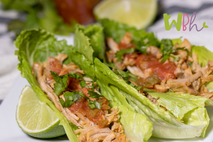 These delicious pork carnitas in lettuce wraps will hit the spot for your Paleo or Whole30 diet! #paleodiet #paleo #whole30diet #whole30 #recipes #porkcarnitas