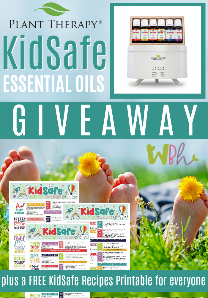 Plant Therapy is offering my wonderful readers a chance to win their KidSafe Starter Set. This set, valued at $89.95 contains 6 10-ml bottles of KidSafe Essential Oils Synergies and the Aromafuse Diffuser (my personal favorite diffuser ever).  #essentialoils #aromatherapy #plantytherapy #giveaway